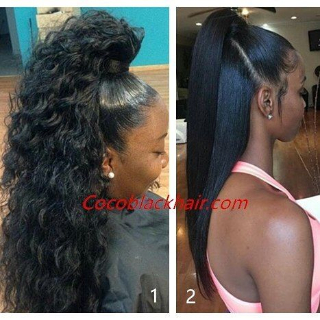 25 best ideas about black ponytail hairstyles on