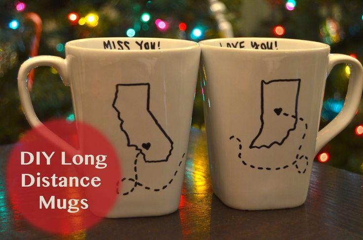 DIY Holiday Gift Ideas | Long Distance Mugs - YouTube