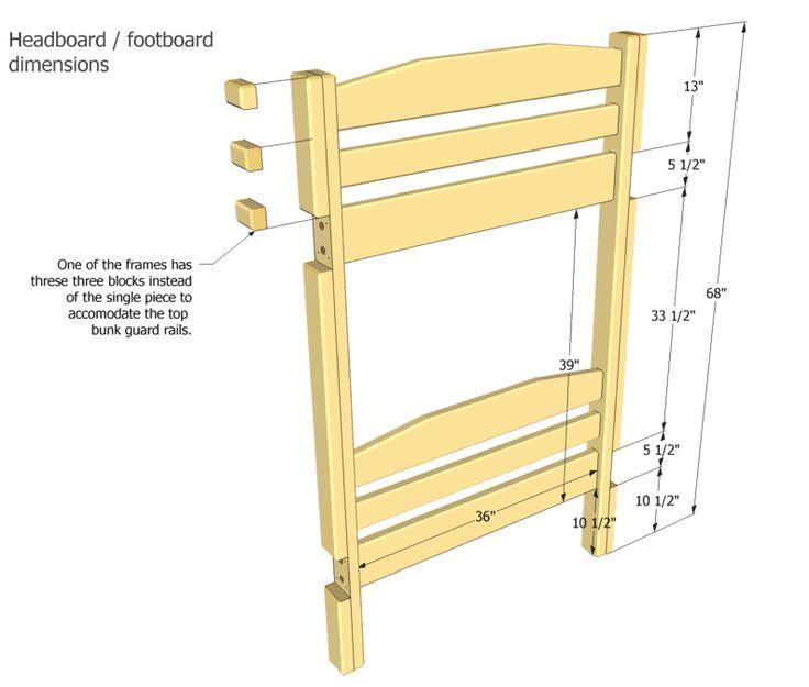 Bunk Bed Plans Literas Proyectos De Carpinter 237 A Y Camas
