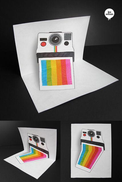 #Polaroid Illusion (Anamorphosis) by Lex Wilson, via Flickr
