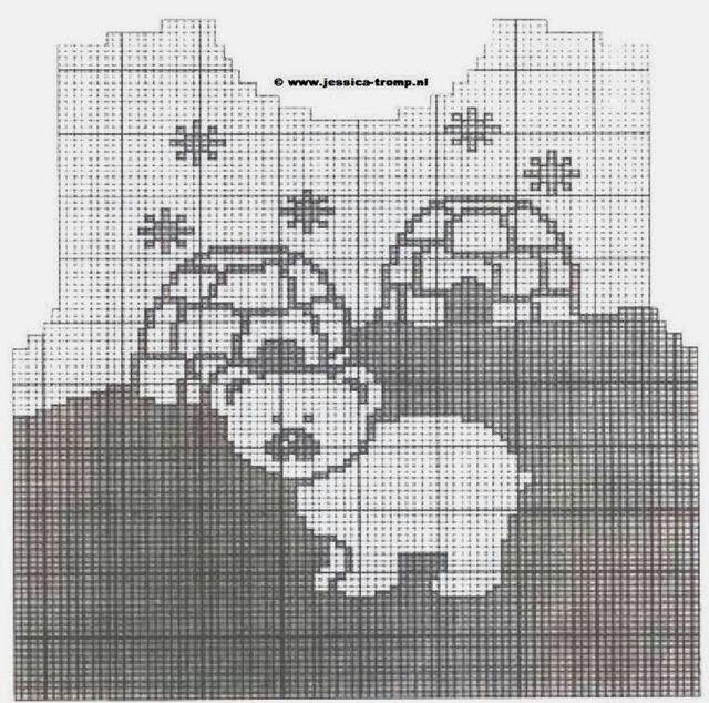 Alaskan polar bear intarsia sweater pattern
