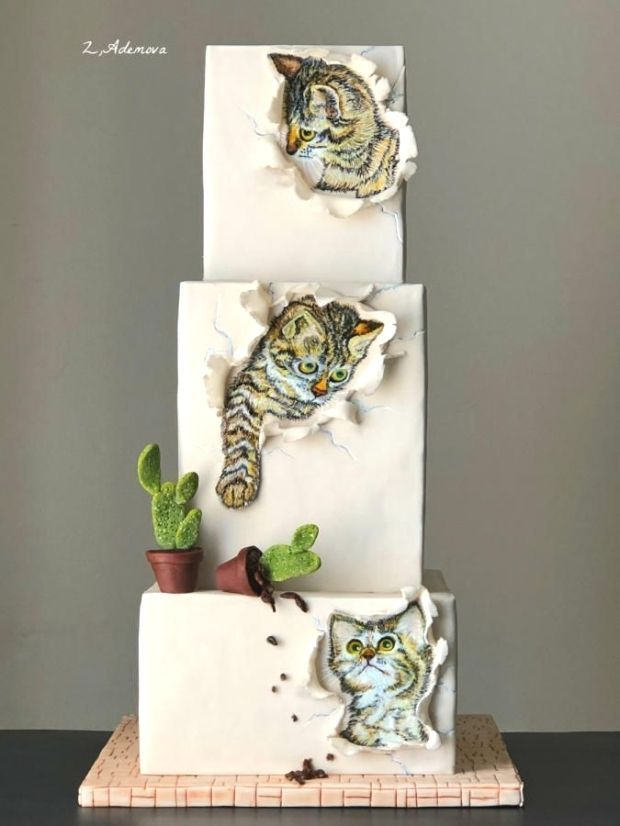 Three Little Kittens Cake In 2020 With Images Kitten Cake Animal Cakes