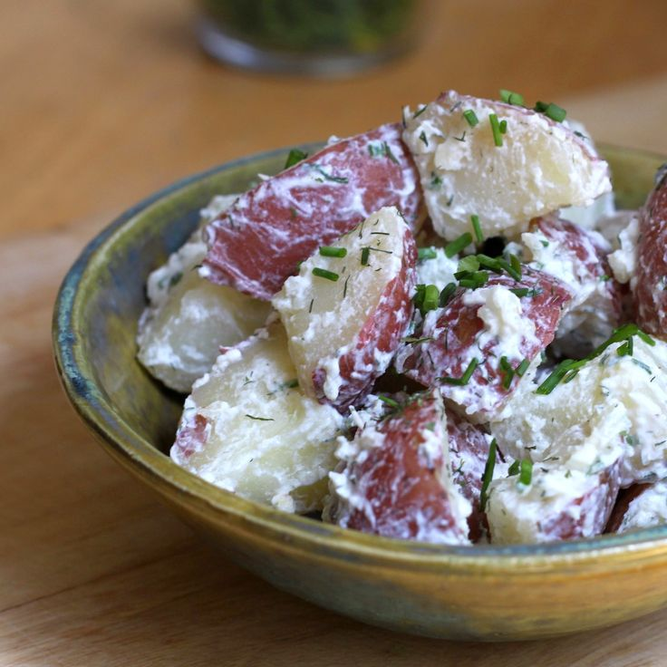 Horseradish Dill Potato Salad with Greek yogurt dressing instead of ...