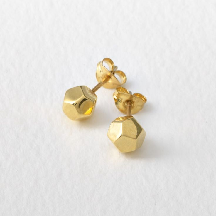 Matthew Calvin —. Dodecahedron Studs Gold