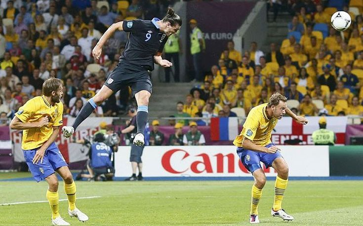 Andy Carroll scores great header against Sweden at Euro 2012