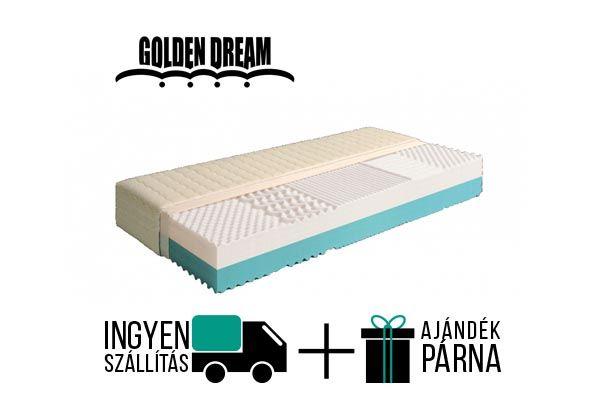 Golden Dream Duo vákuum matrac, 2 oldalú egyik oldal kemény, míg a másik félkemény konfortú. Levehető és mosható huzattal. A gyártó 5 év garanciát vállal.  http://matracom.hu/termekek/hideghab-matracok/golden-dream-duo-2-oldalu-vakuum-matrac/