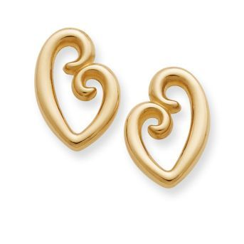 A design enjoyed by all generations, the everlasting bond between a mother and child serves as the inspiration for these earrings. Resembling a mother's embrace, the subtle contours of a mother and child emerge from the simple shape of a heart. #motherslove #jamesavery #giftformom