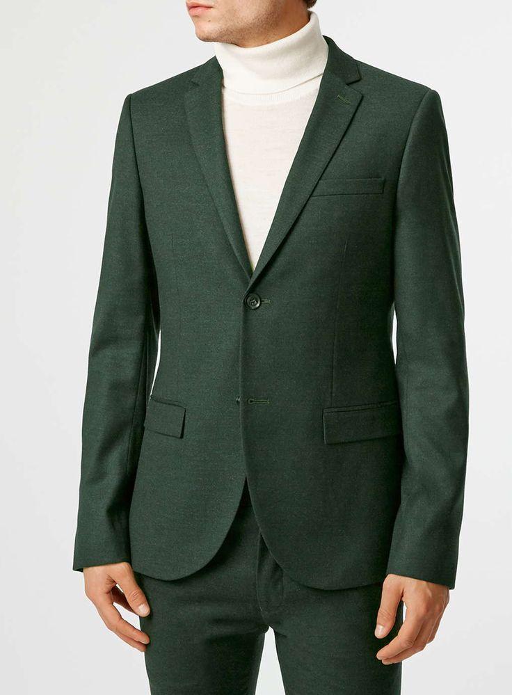 Dark Green Ultra Skinny Fit Suit - Topman