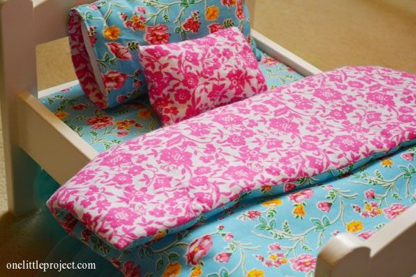 How to make a mattress for an IKEA doll's bed | onelittleproject.com