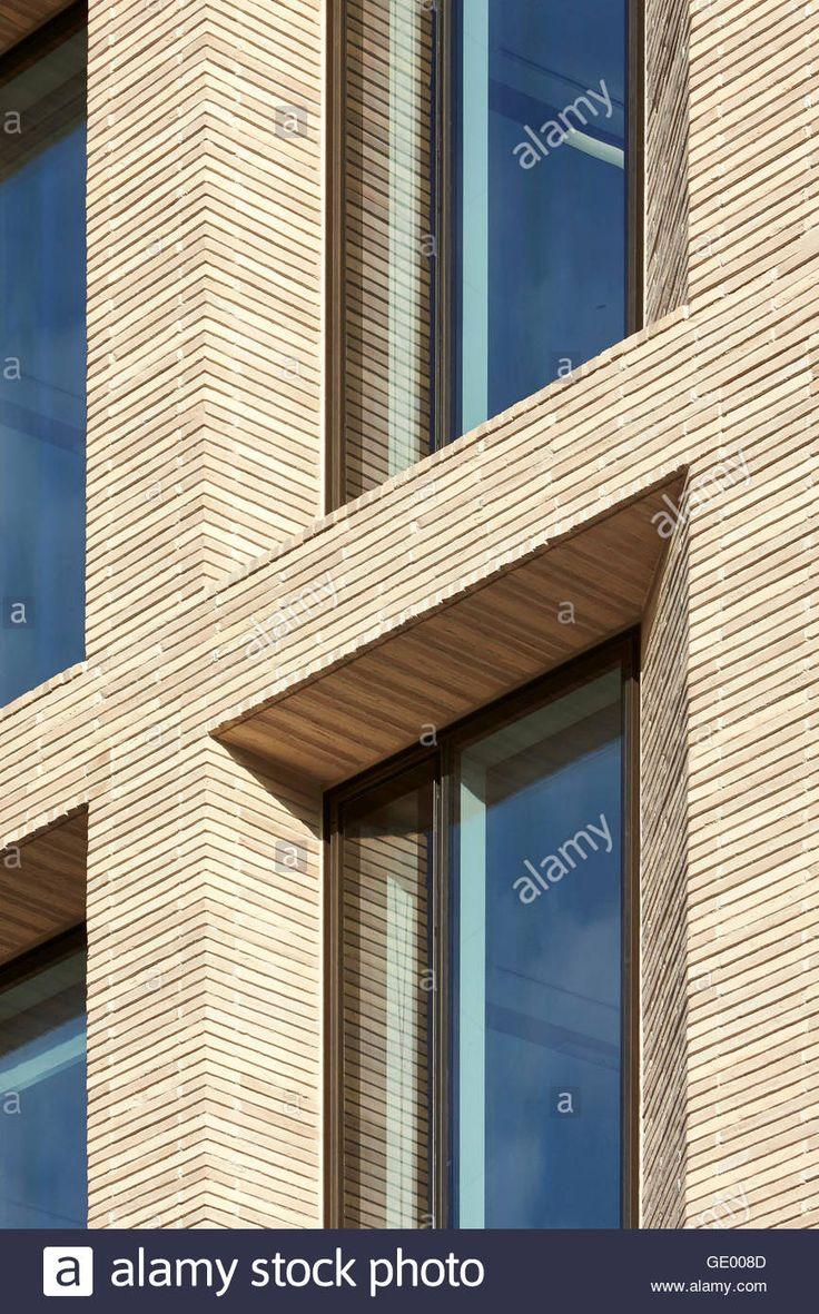 Brick facade and window reveal. Turnmill Building, London, United Kingdom. Architect: Piercy & Company, 2015. Stock Photo