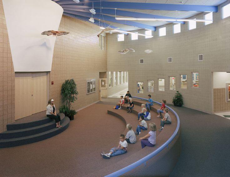 Foyer Area Utah : Main lobby west haven es utah learning spaces
