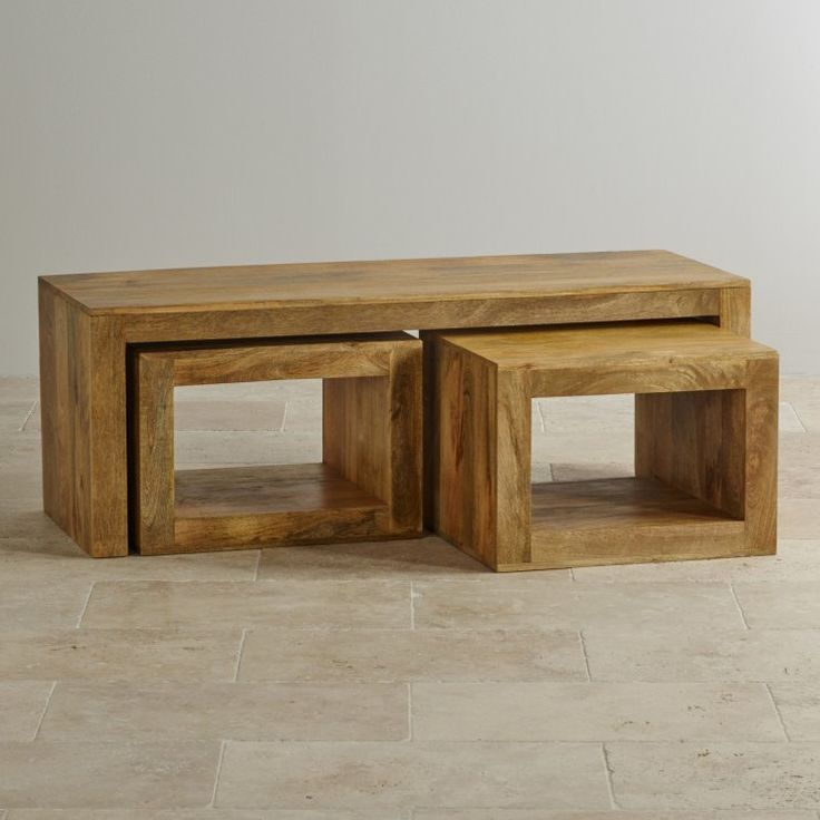 Mantis Light Solid Mango Solid 3 Cube Nest of Tables from the Mantis Light Solid Mango range by Oak Furniture Land
