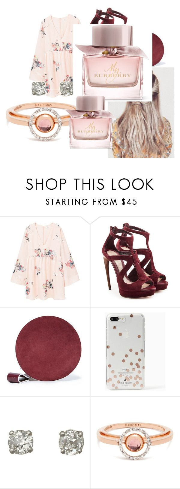 """""""Untitled #23"""" by androsales24 on Polyvore featuring MANGO, Alexander McQueen, Diane Von Furstenberg, Kate Spade, Marie Mas and Burberry"""