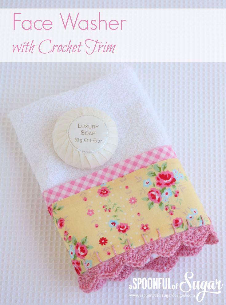 towel with crochet trim