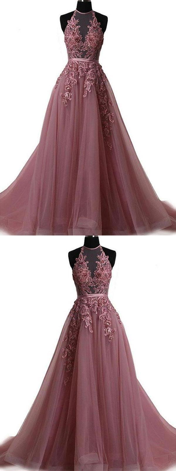 Beautiful Simple Prom Dress, Prom Dress 2019, Lace Prom Dress, Long Prom Dress
