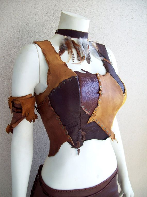 Scrapwork Leather Bodice by ArchaicLeatherworks on Etsy
