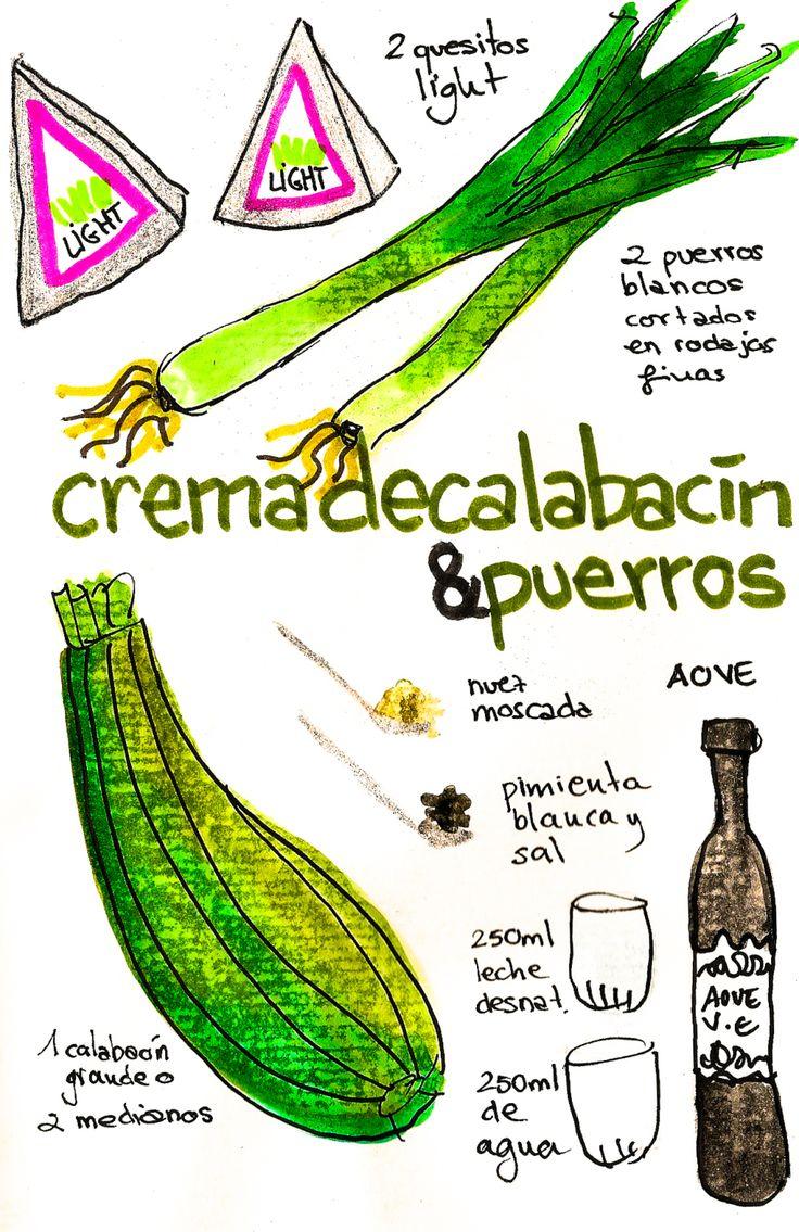 Crema de calabacín & puerros https://www.pinterest.com/source/gastroandalusi.com/