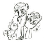 A sketch from Lauren Faust, the creator of MLP:FiM  (my cousin-in-law)