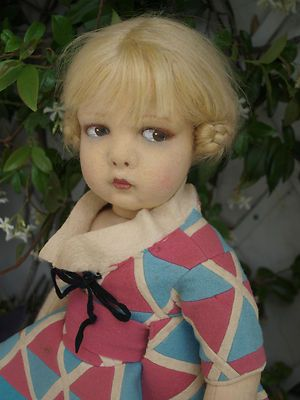 Lenci    This doll looks freakishly like childhood Drew Barrimore.