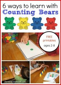 Math Activities with Counting Bears (for ages 2-8) - The Measured Mom