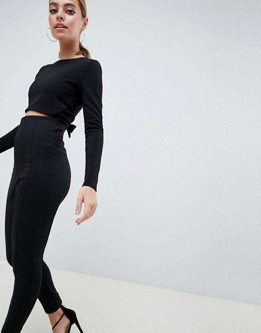 ce04def09eef0 DESIGN Petite Skinny Pants With Super High Waist in 2018