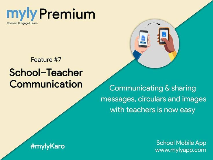School-Teacher Communication  Communicate & share messages, circulars & images with teachers instantly.  Know more at https://goo.gl/PPMQ4H  #myly #SchoolApp #SchoolMobileApp #SchoolERP