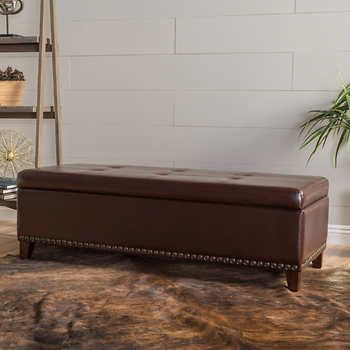 Baltimore Bonded Leather Storage Bench