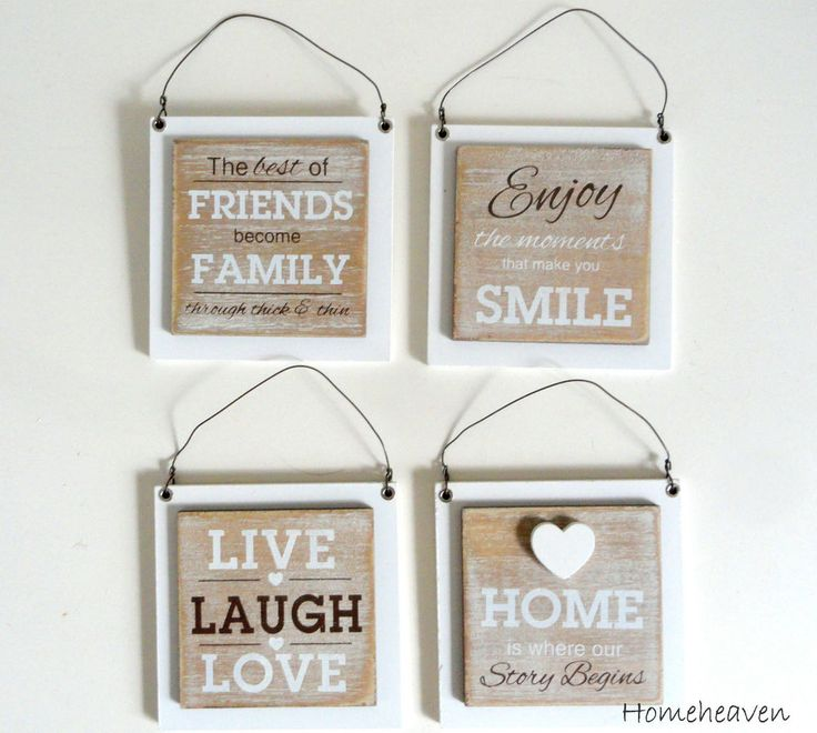 Live Laugh Love Picture set 4 Home Family Friends Wall Hanging Shabby Chic 10cm…