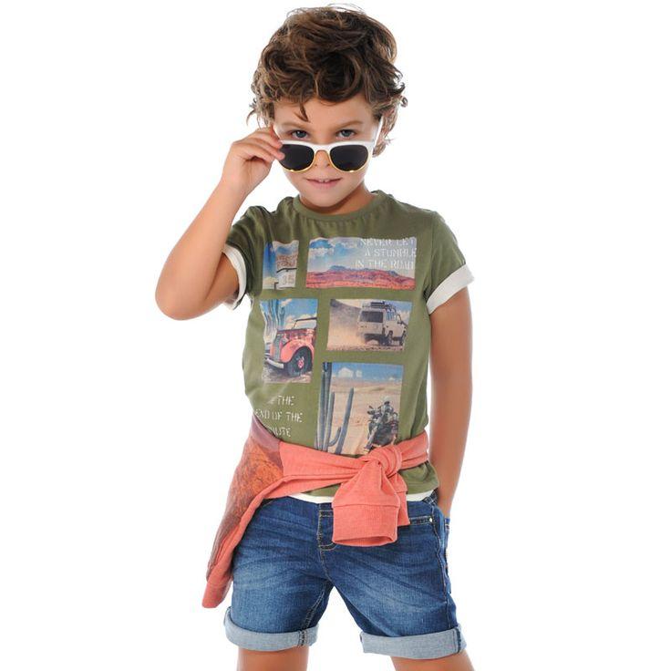 #Conjunto de niño casual de #Mayoral, ideal para verano