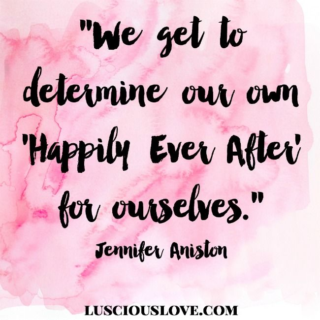 Great quote by Jennifer Aniston. #lusciouslove