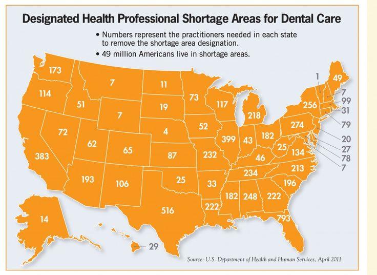 Best Dental Infographics Images On Pinterest Dental Health - Us dentist distribution map