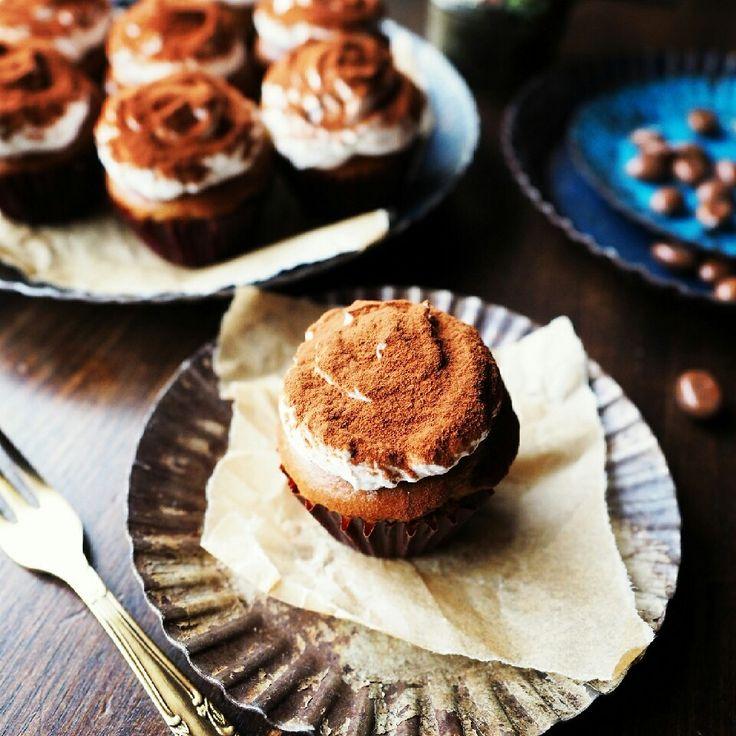 ほろ苦大人味♪オーブンまで5分のひとくちティラミスマフィン♪  しゃなママオフィシャルブログ「しゃなママとだんご3兄弟の甘いもの日記」Powered by Ameba