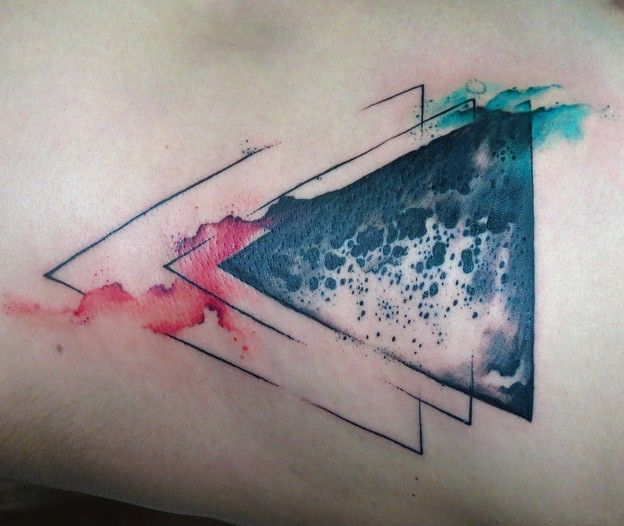 triangle tattoo • watercolor tattoo