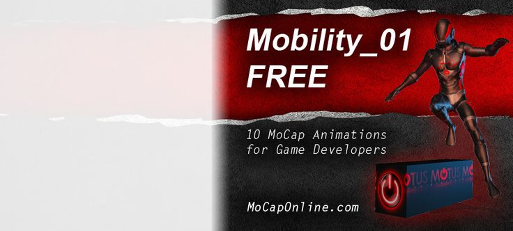 """Mobility Free A Subset of """"Mobility1""""  Check out the video here: Mobility  10 MoCap Mobility Animations - a free set of AAA game-ready motions to move your character around.  Includes a standing idle, a walk, jog, run, crouch idle and walk, a walking running and jogging jump, and a standing death.  - Contains a small set of 3D character animations from the Mobility1 MoCap Pack. - All Locomotions are included as one cycle traveling loops. All jump animations are included as traveling…"""