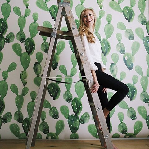 PRICKLY CACTUS: Inside our latest issue we showcase some prickly homewares. Pictured here is the Watercolor Cactus Wall Mural from @anewalldecor Photography: @anewalldecor   Instagram photo by @winkelenmagazine via ink361.com