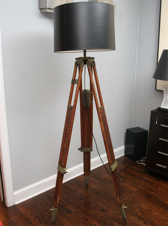 tripod lamp diy