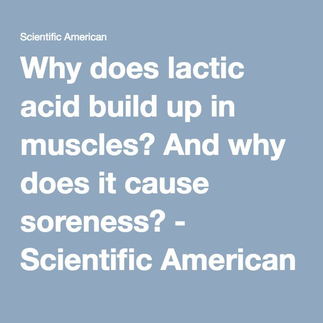 how to reduce lactic acid build up