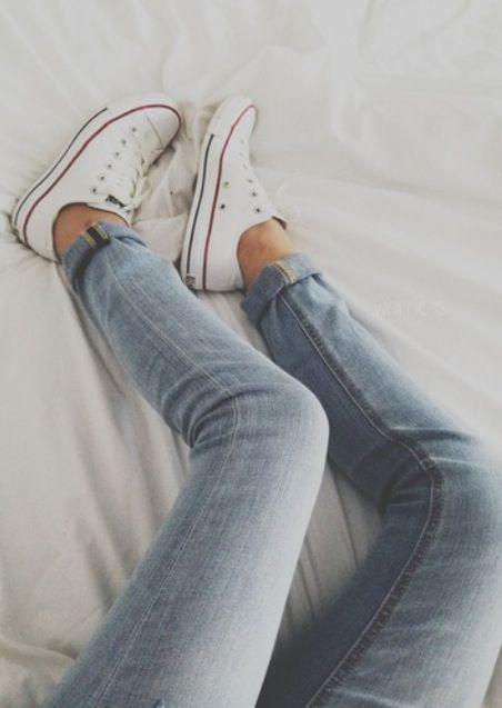 white converse + jeans.. essential