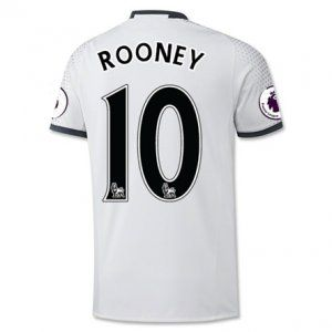 16-17 Third White Manchester United Football Shirt #10 ROONEY Cheap Replica Jersey [G00667]