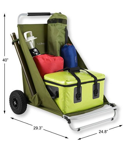 Gear Hauler Folding Cart: Chairs | Free Shipping at L.L.Bean (available July 4, 2014)