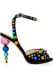 Шарлотта Олимпия Bauble украшены бархатными сандалии
