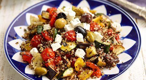 Mediterrane quinoa met geroosterde groenten