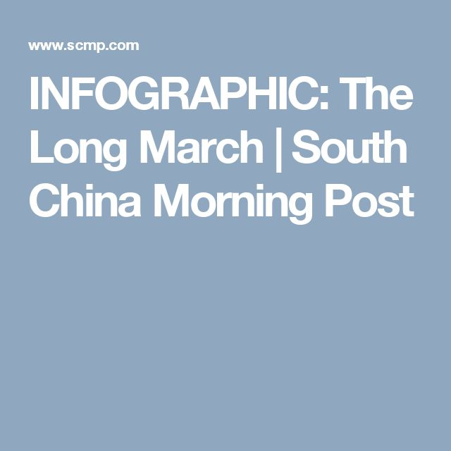 INFOGRAPHIC: The Long March | South China Morning Post