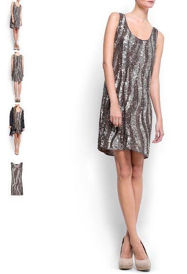 Haine Mango - Rochie Mango Sequins beads dress. O colectie cu rochii Mango la pret redus, transport gratuit la comenzi de peste 75 Euro. Intra in site pentru detalii! #rochiimango