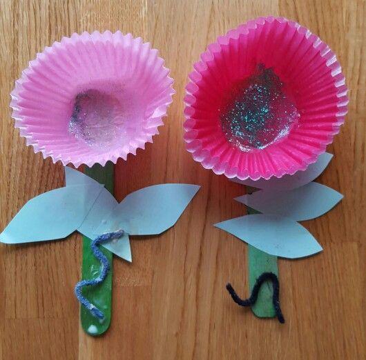 Fairy cake liner flowers