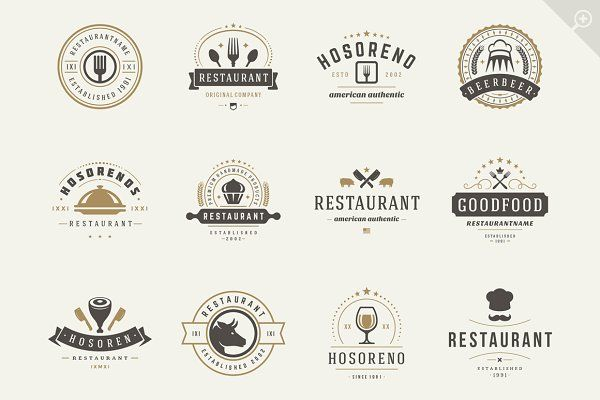 16 Restaurant Logotypes And Badges Logotip Restorana Logotip Dizajn Bara