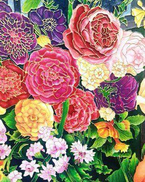 Pretty flowers - White Cube London - 'Self Portraits' exhibition by Raqib Shaw