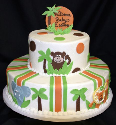 jungle theme cakes jungle theme baby shower themed baby showers safari