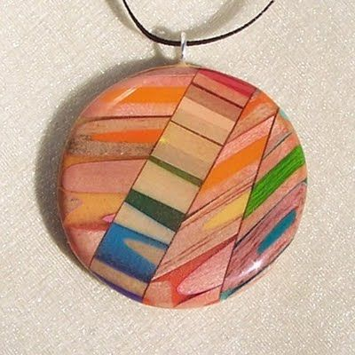 The necklaces I mentioned...Jennifer Maestre.  Me thinks these , made from colored pencils, make a great gift for a teacher!  Anybody really - a real conversation starter!