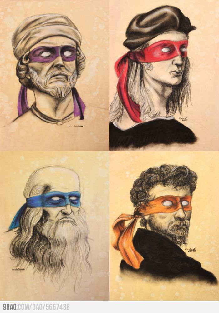 Ninja Renaissance Artists! Might as well learn to name them all :)